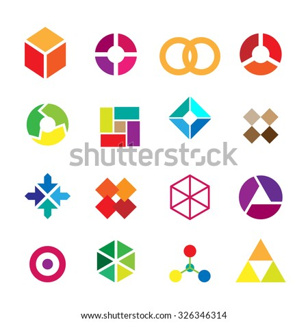Set of geometric shapes,Vector