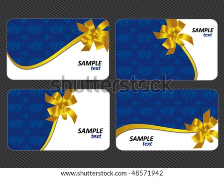 set of gift and holiday cards - stock vector