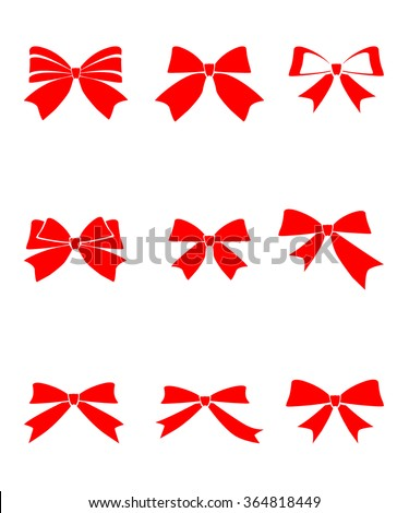 Set gift bows ribbons on white stock vector 364818449 shutterstock set of gift bows with ribbons on white background vector illustrationw icons image negle Image collections