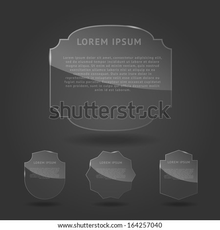 Set of glass framework. Vector illustration - stock vector