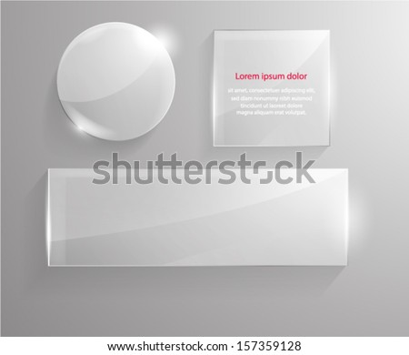 Set of glass shapes. Vector eps10. - stock vector