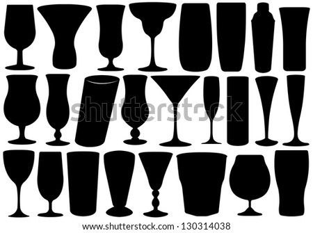 Set of glasses - stock vector