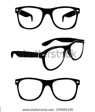set of glasses vector  - stock vector