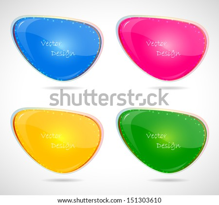 Set of glossy speech bubbles