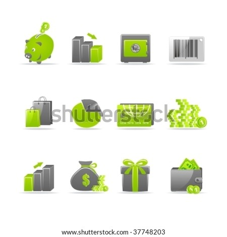 Set of 12 glossy web icons. Part 4. (see other in my portfolio) - stock vector