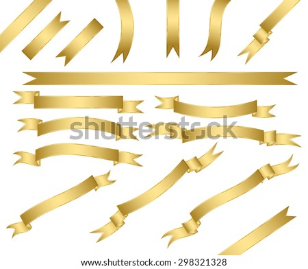 set of gold ribbons.vector