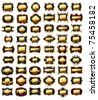 set of golden frames - stock vector