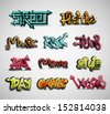 Set of graffiti, grunge. Eps 10 - stock vector