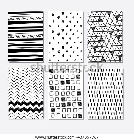 Set of graphic backgrounds for design, textile, banners, cards, invitation