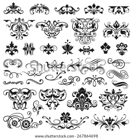 Set of graphic elements for design - stock vector