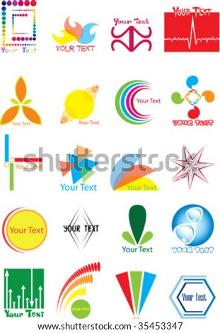 set of graphic icons and symbols - stock vector