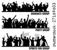 set of group peoples vector - stock photo