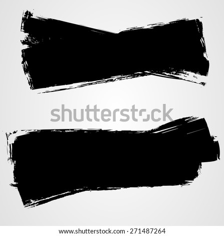Set of grunge background banners for your design - stock vector