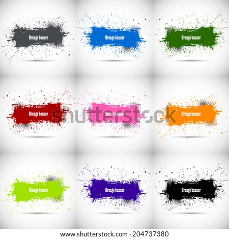 Set of grunge backgrounds - stock vector