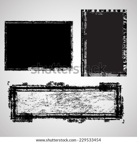Set of Grunge Banners. Rubber Stamp Texture . Distress Background . Grungy Texture .Retro Background. Vintage Background . Texture Background . Abstract Shape . Vector Illustration . - stock vector