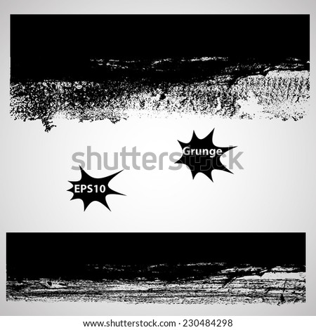 Set of Grunge Banners. Splash Banners Set . Stamp Texture . Distress Background . Grungy Texture .Retro Background. Vintage Background . Texture Background . Abstract Shape . Vector Illustration .  - stock vector