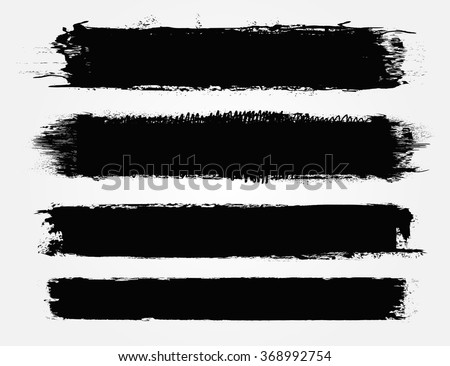 Set of grunge banners .Vector illustration. - stock vector