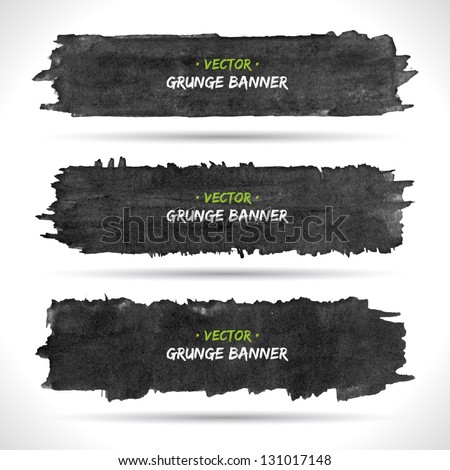 Set of grunge banners. Watercolor background. Retro background. Vintage background. Business background. Abstract background. Hand drawn. Texture background. Abstract shape - stock vector
