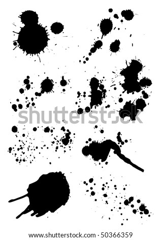 set of grunge blots