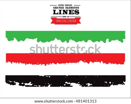 Set of grunge borders. Isolated stock vector design template