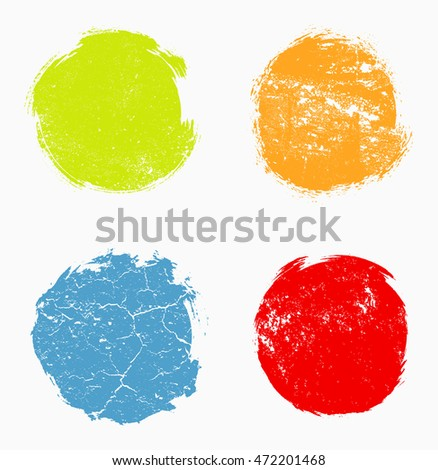 Set of grunge circles.Grunge round frames.Vector illustration.