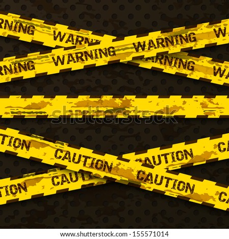 Set of grunge cross warning tapes . Caution tape, warning tape. Vector ilustration - stock vector