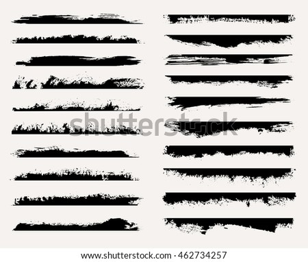 Set of grunge edges.Grunge borders.Vector template.