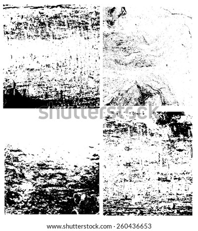 Set of grunge overlay texture for  background design. Vector eps10.
