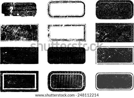 Set of Grunge Rubber Stamps.  - stock vector
