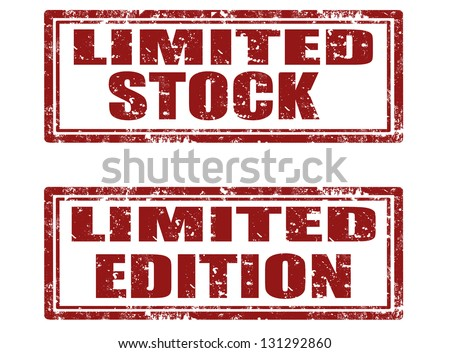 Set of grunge rubber stamps with text limited stock and limited edition inside,vector illustration - stock vector