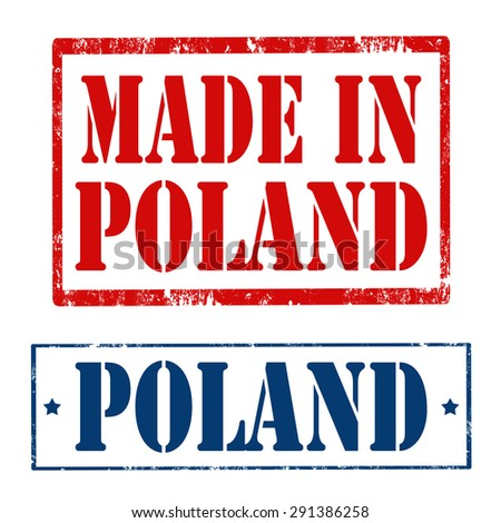 Set of Grunge rubber stamps with text Made In Poland and Poland,vector illustration - stock vector