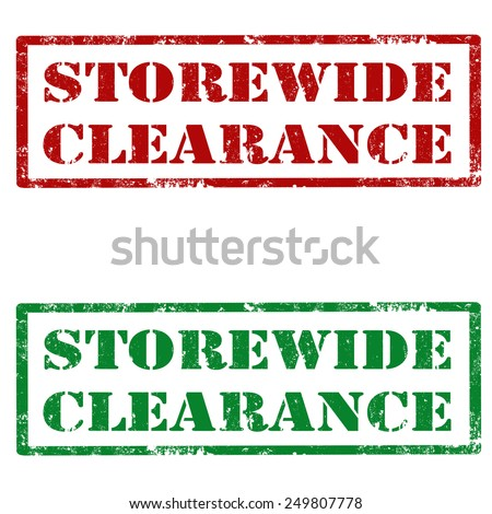 Set of grunge rubber stamps with text Storewide Clearance,vector illustration - stock vector