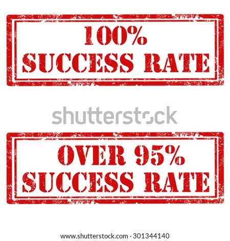 Set of grunge rubber stamps with text Success Rate,vector illustration - stock vector