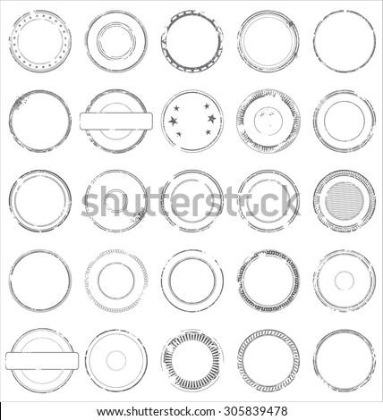 Set of grunge stamp - stock vector