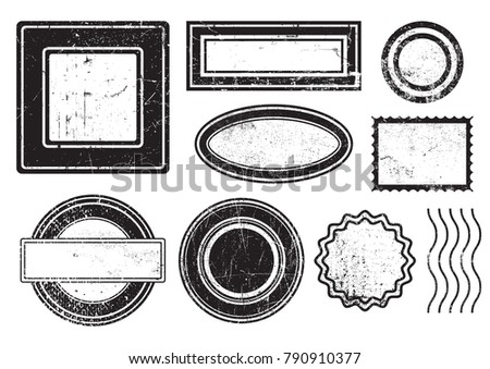 Set of grunge stamps.Grunge design elements.Vector illustration.