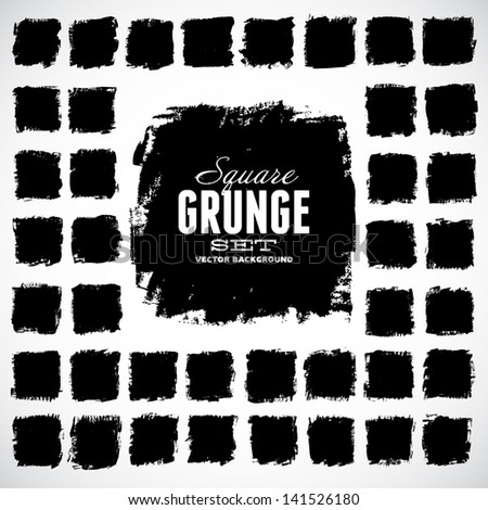 set grunge vector shapes vector banners stock vector royalty free