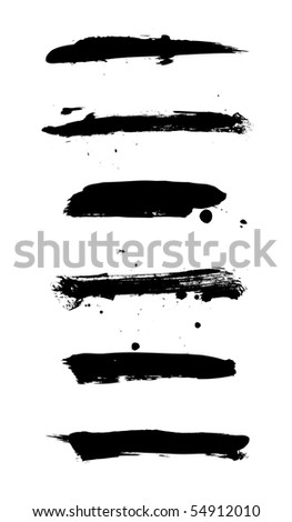 Set of grungy banners on white - stock vector