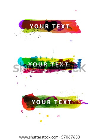 Set of grungy colorful banners - stock vector
