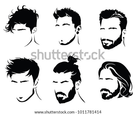 Man In Black Glasses Stock Vectors, Images & Vector Art ... Men Hair Clipart