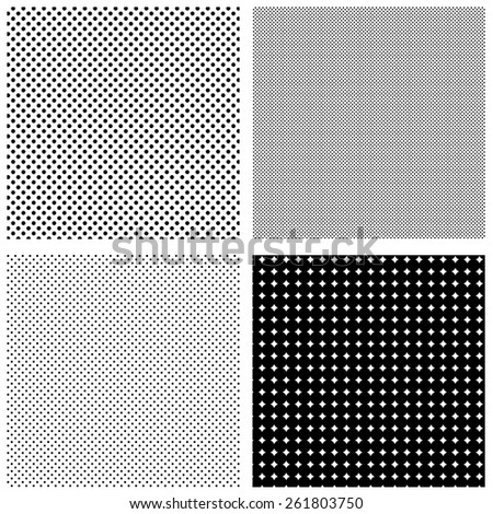 Set of halftone patterns - stock vector