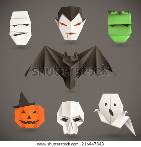 Halloween Origami Stock Images, Royalty-Free Images & Vectors ...