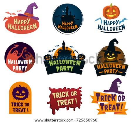 happy halloween label