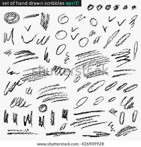 Set of hand drawn scribbles vector. Texture can be used for wallpaper, pattern fills, web page background, surface textures.