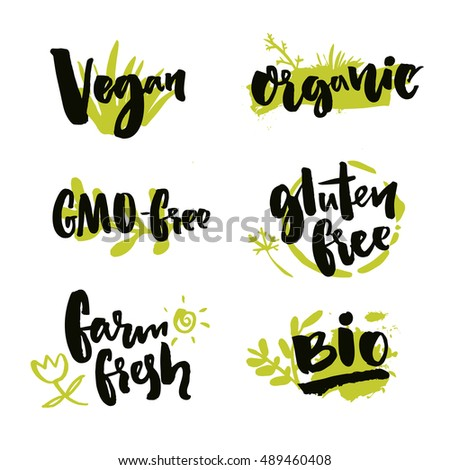 Vegan Sources Protein Vector Hand Drawn Stock