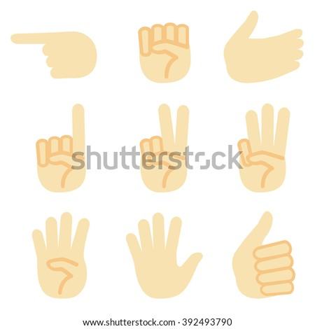 set of hand sign / vector eps10 illustration