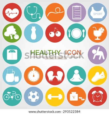 set of healthy icon
