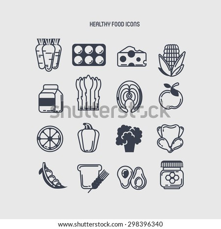 Set of healthy icons