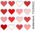 Set of hearts - stock vector