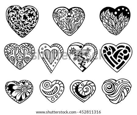 Valentine Heart Black And White