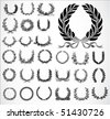 Set of highly detailed vector wreaths. Easy to edit. - stock vector